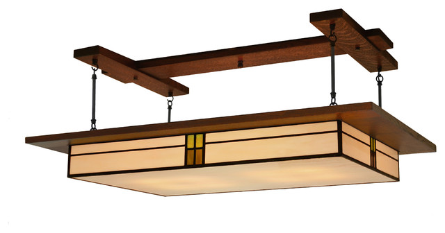 Dining Room Lighting, Prairie Style Light Fixture #907 - Craftsman - Ceiling Lighting - by ...