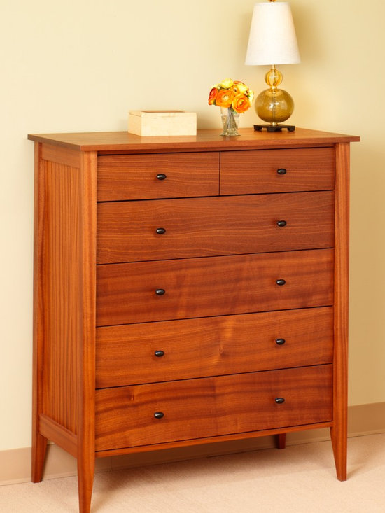 ASHBURY 6 DRAWER VERTICAL DRESSER - Giving a nod to Hollywood Regency and the design of mid-century modernism, our Ashbury collection is stately, but casual at the same time.