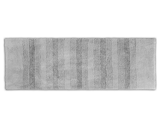 "Sands Rug - Westport Stripe Stormy Seas Washable Runner Bath Rug (1'10"" x 5') - Classic and comfortable, the Westport Stripe bath collection adds instant luxury to your bathroom, shower room or spa. Machine-washable, always plush nylon holds up to wear, while the non-skid latex makes sure rugs stay in place."