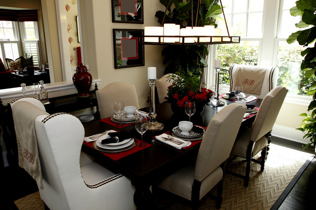 Black white and red for Black white and red dining room ideas