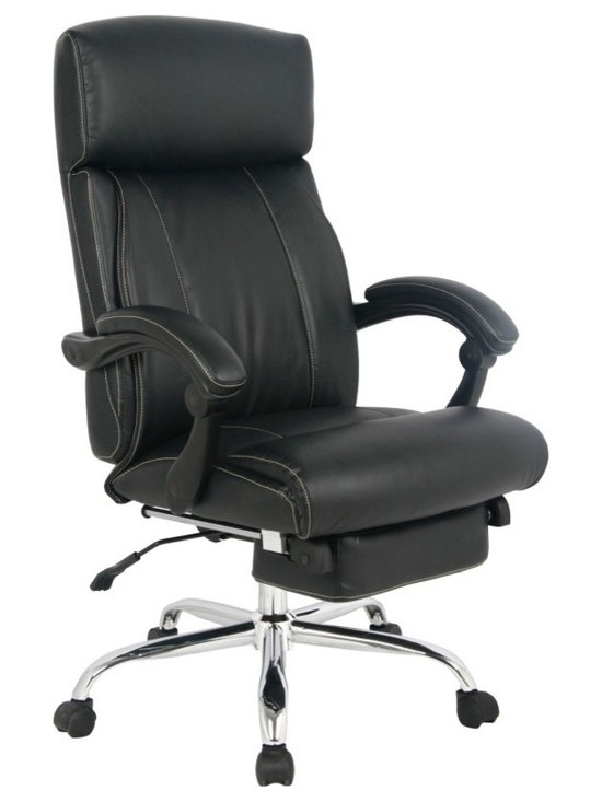 VIVA OFFICE® - VIVA Office Chair, Adjustable High Back Ergonomic Multifunction napping chair - Long live the functional office chair! Ideal for your home or office, this high-back, ergonomic chair has so many features to explore you might not get any work done. It reclines, swivels, has height and depth adjustments, and sports a reclining incremental footrest. So sit down (or lay back) and enjoy its bonded-leather comfort.