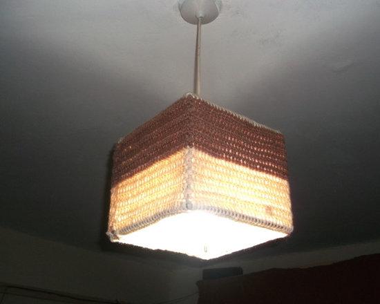 Woolen lamp shade -