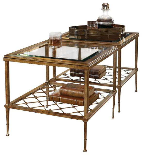 Lexington St Tropez Sanremo Bunching Cocktail Table In Gold Finish Transitional Coffee