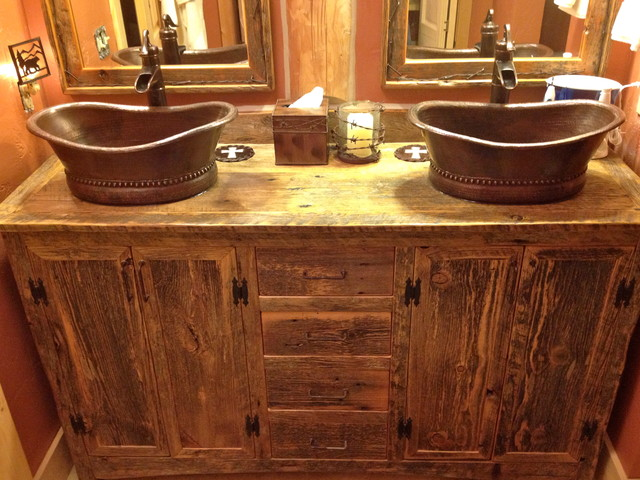 Rustic Furniture Portfolio - rustic - bathroom vanities and sink