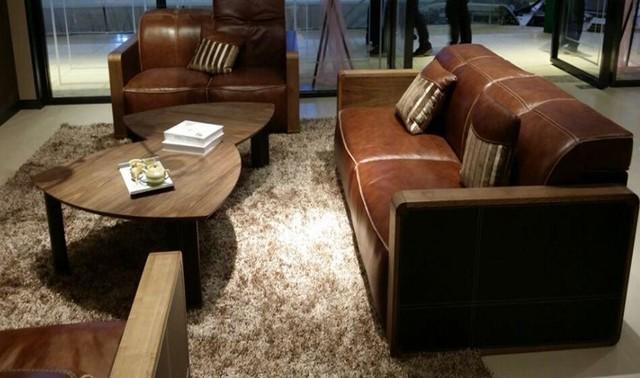 Divani Casa S093 Modern Leather Sofa Set Sofa Loveseat And Chair