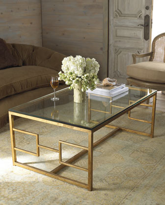 Brass Coffee Table traditional-coffee-tables