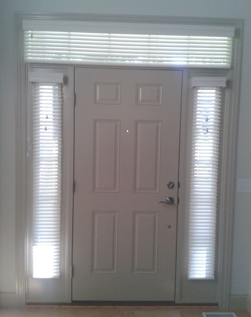 Sidelight Window Treatments With Transom Traditional