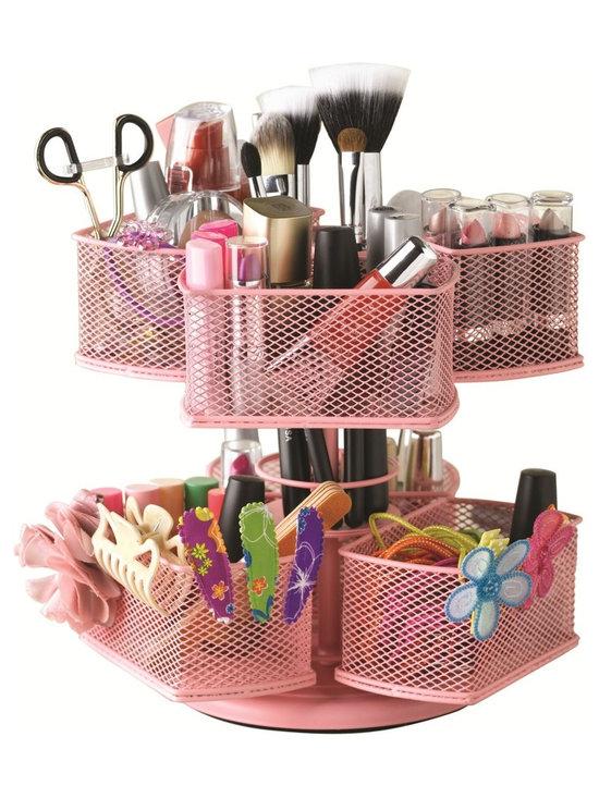 Nifty Cosmetic Organizing Carousel, Pink -