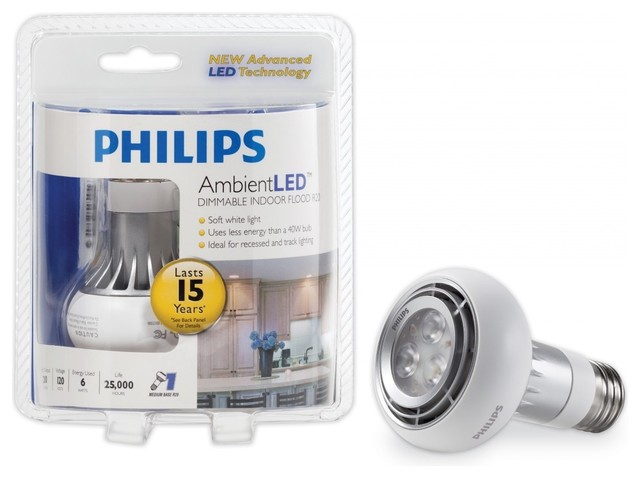 z DISCONTINUED: Philips AmbientLED (TM) Dimmable 40W Replacement R20 Flood LED recessed-housings