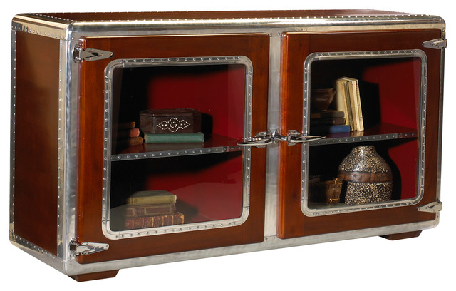 French Heritage Ferault Console/Sofa Back Cabinet traditional-storage-cabinets