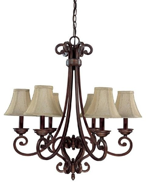 Capital Lighting 3086BB-413 6 Light Chandelier Cumberland Collection chandeliers