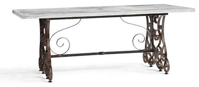Rosalie Concrete-Top Rectangular Fixed Dining Table contemporary-outdoor-dining-tables
