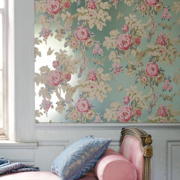 Anna French Wallpaper - Bird in the Bush Wallpaper traditional wallpaper
