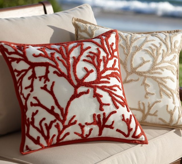 eclectic outdoor pillows by Pottery Barn