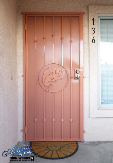 wrought iron security doors contemporary front doors las vegas by artistic iron works