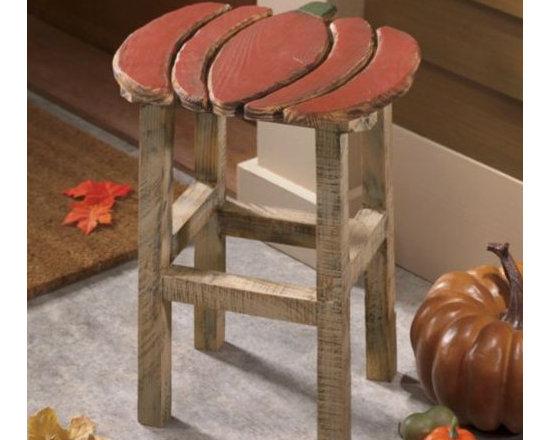 Decorative Pumpkin Stool -