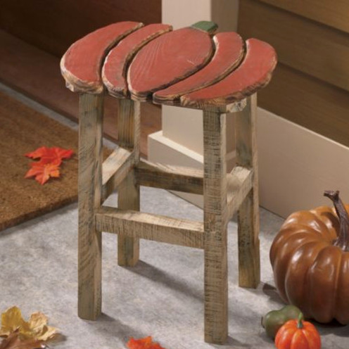 Decorative Pumpkin Stool Eclectic Kids Step Stools And