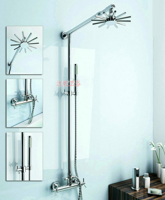 NEW** wall mount shower Faucet chrome finish chrome finish 817 modern-showerheads-and-body-sprays