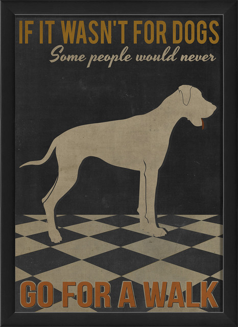 'If it Wasn't for Dogs' Print contemporary-prints-and-posters