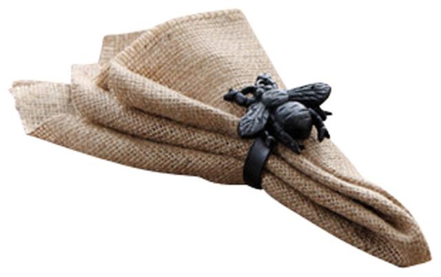 Bumble Bee Napkin Rings Set of 4 farmhouse-napkin-rings