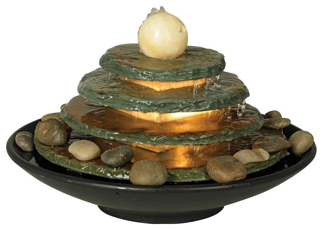 Pyramid Feng Shui Ball Lighted Table Fountain Modern Outdoor Fountains And Ponds