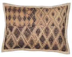 Ethnic African Kuba Cloth Lumbar Pillow eclectic pillows