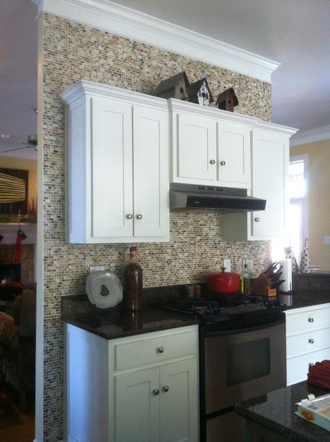 Glass Tile Back Splash contemporary-kitchen