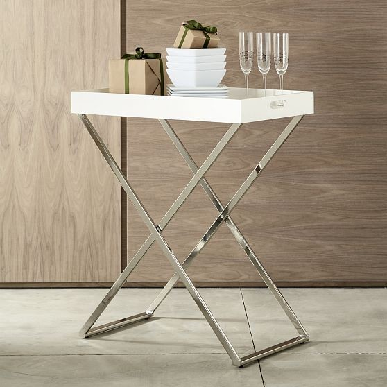 Tall Butler Tray Stand Modern Bar Tables By West Elm
