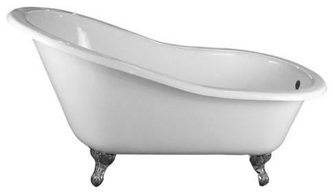 Barclay 61 Inch Cast Iron Slipper Clawfoot Tub traditional-bathtubs