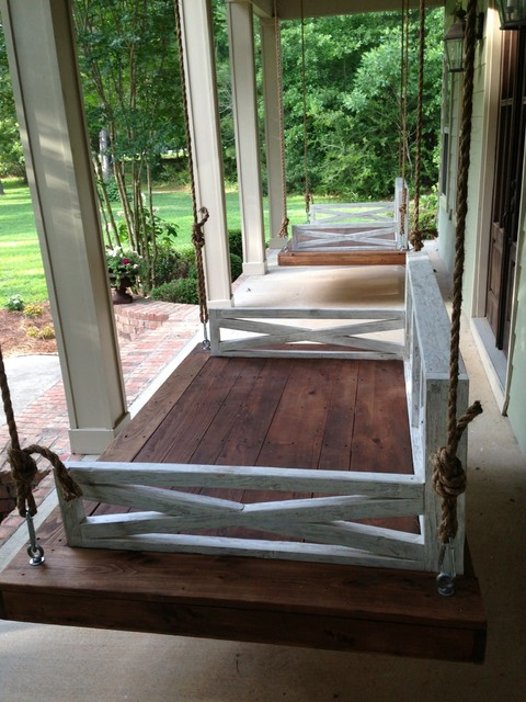 Outdoor daybed swing. Saltaire Restoration
