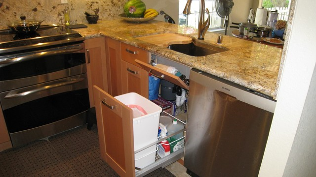 Small Efficient Kitchen in Fremont traditional-kitchen