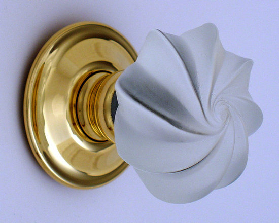 Decorative glass knobs - Handmade solid glass decorative door knob, available in a range of colours and finish options.  Merlin glass the ultimate in luxury glass knobs.