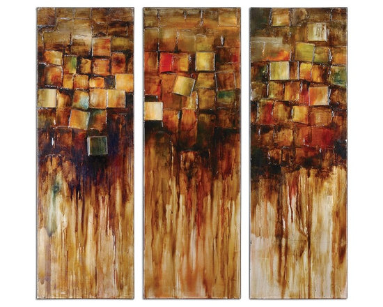 Foliage Blocks I, Ii, Iii S/3 - Shop StudioLX for your Foliage Blocks I, Ii, Iii S/3 by Uttermost. This set of hand painted artwork on canvas features rich, vibrant colors.