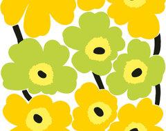 UNIKKO Lime Upholstery Fabric by Marimekko modern-upholstery-fabric