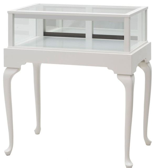 White Queen Anne Jewelry Display Case - Contemporary - Display And Wall Shelves - kansas city ...