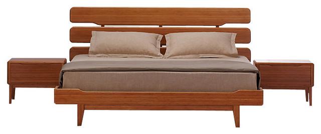 Currant king platform bed contemporary bedding by smartfurniture - Bedspreads for platform beds ...