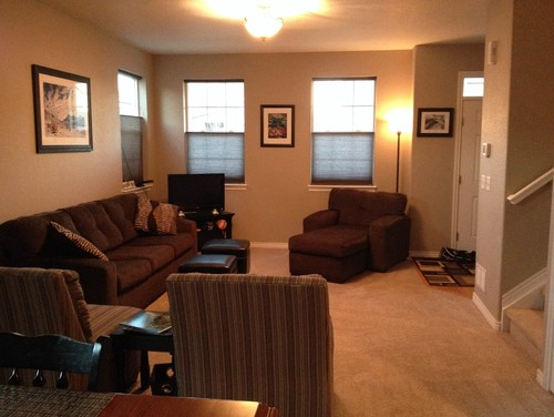Need help with living room furniture arrangement in long Help arranging furniture