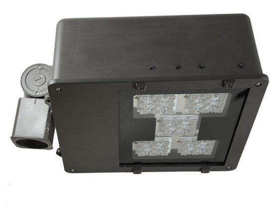 """MaxLite - MLFL100LED50-BorW MaxLite LED MaxLED Flood Light, 102 Watts - An efficient, energy saving replacement for metal halide and high-pressure sodium flood lights, this fixture can be easily installed with a 2-3/8"""" slip fitter knuckle, which is included."""