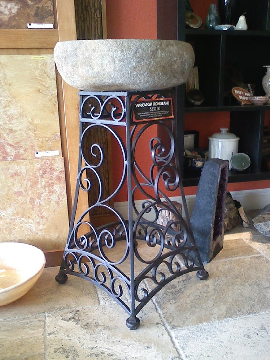 Wrought Iron Ideas - Vanity base, handmade, solid wrought iron, scrolls work.