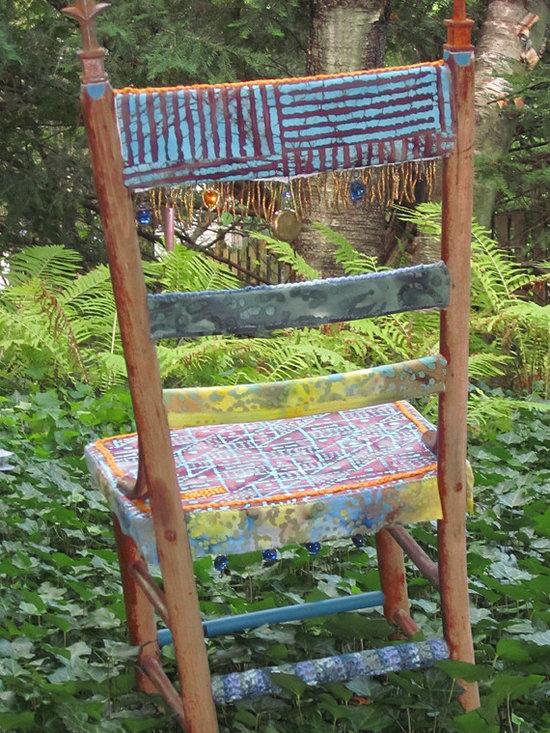 AWAKEN crocheted chair - Awaken! Chair /  Back Detail