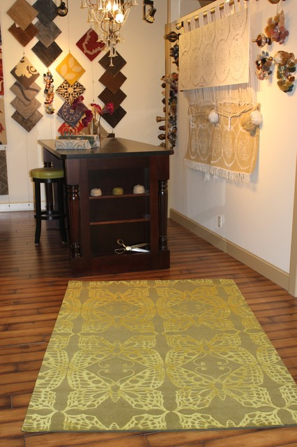 Custom rug for Laurie DeMartino Designs eclectic-flooring