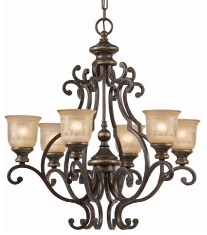Crystorama Norwalk Chandelier - 28W in. Bronze Umber traditional-chandeliers