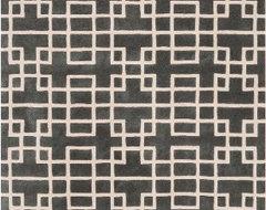 Surya G5080 Goa Contemporary Hand Tufted Dark Gray Rug (8-Feet x 11-Feet) contemporary-rugs