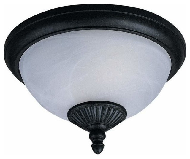 2-Light Ceiling Forged Iron traditional-ceiling-lighting
