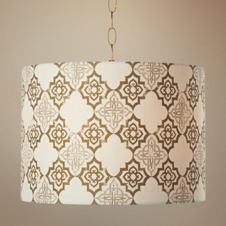 Granada Polished Brass Pendant Swag Light mediterranean pendant lighting