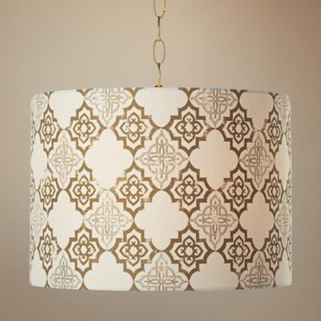 Granada Polished Brass Pendant Swag Light mediterranean-pendant-lighting