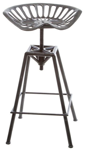 Charlie Industrial Metal Design Tractor Seat Bar Stool  : industrial bar stools and counter stools from www.houzz.com size 362 x 640 jpeg 43kB