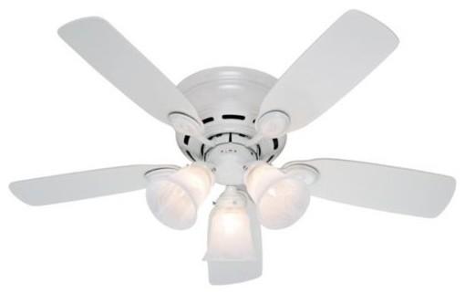 42 in Low Profile Plus Ceiling Fan by Hunter Fans modern-ceiling-fans
