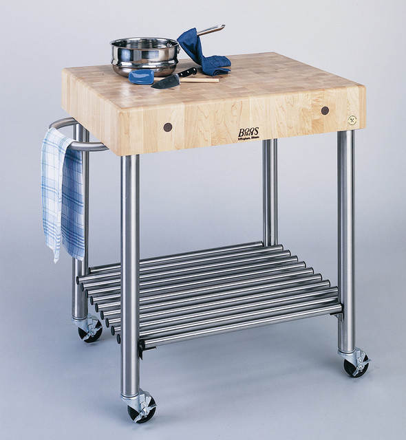 John Boos Cucina Americana D'Amico Kitchen Cart - traditional
