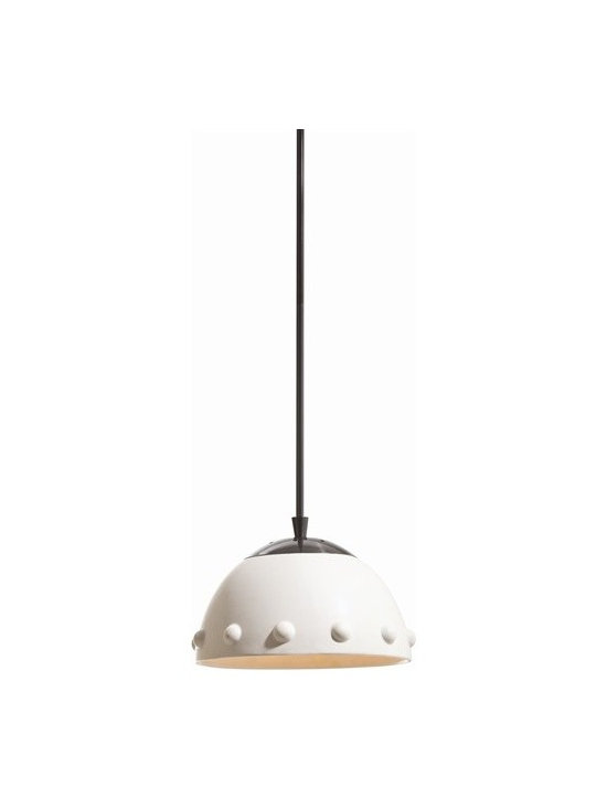 Arteriors Dots Large Ceramic/Black Bronze Pendant - Dots Large Ceramic/Black Bronze Pendant